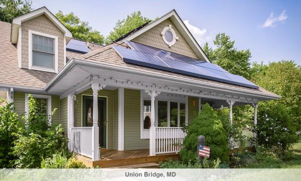 솔라시티의 태양광 발전 시설을 설치한 집 - 솔라시티 홈페이지 제공